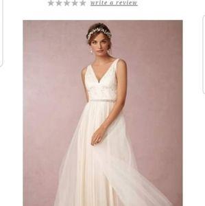 BHLDN Blush Tasmin Wedding Gown